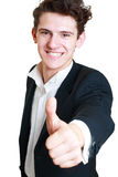 Happy young businessman Royalty Free Stock Images