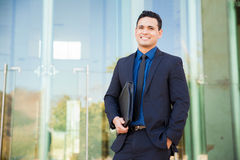 Happy young businessman Stock Images