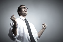 Happy young businessman. royalty free stock photo