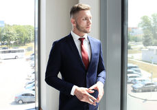Happy young businessman Royalty Free Stock Photo