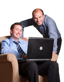Happy young businessmen Royalty Free Stock Images