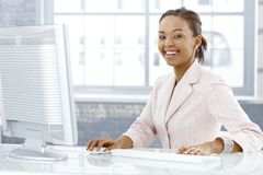 Happy young businesswoman Royalty Free Stock Photography