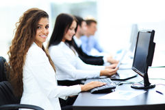 Happy young businesswoman looking Royalty Free Stock Photography