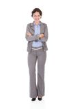 Happy young businesswoman stock photo