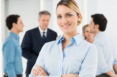 Happy Young Businesswoman Royalty Free Stock Photo