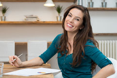Happy young businesswoman Royalty Free Stock Images