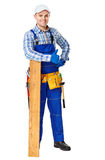 Happy young carpenter Royalty Free Stock Photo