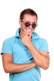 Happy young casual man Stock Photos
