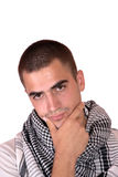 Happy young casual man portrait Royalty Free Stock Photo