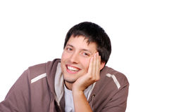 Happy young casual man portrait Stock Image