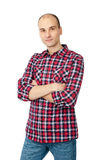 Happy young casual man portrait Royalty Free Stock Photos