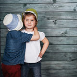 Happy young children siblings. Royalty Free Stock Photo
