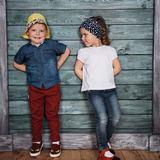 Happy young children siblings. Royalty Free Stock Image