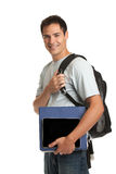 Happy Young College Student Holding Tablet Stock Photography