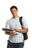 Happy Young College Student Holding Tablet Stock Images