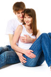 Happy young couple Royalty Free Stock Image