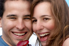 Happy young couple Stock Photos