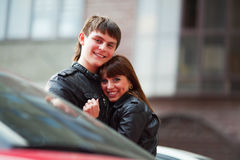 Happy young couple. Royalty Free Stock Photo