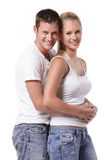 Happy young couple Stock Image