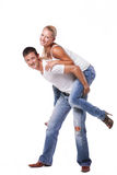 Happy young couple Royalty Free Stock Images