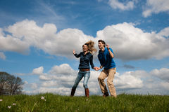 Happy young couple Royalty Free Stock Photography