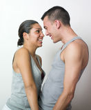 Happy young couple. In love Stock Photos