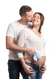 Happy young couple anticipating child birth Royalty Free Stock Image