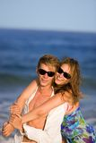 Happy young couple  on the beach Royalty Free Stock Photo