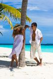 Happy young couple on a beach Royalty Free Stock Photo
