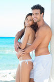 Happy Young Couple At Beach Royalty Free Stock Images