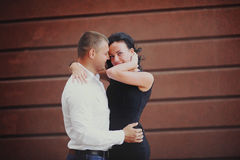 Happy young couple bonding Royalty Free Stock Photography