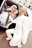 Happy young couple of bride and groom Royalty Free Stock Photo