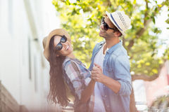 Happy young couple dancing Royalty Free Stock Photography