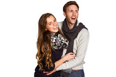 Happy young couple embracing Stock Image