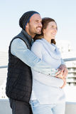 Happy young couple embracing Royalty Free Stock Photography