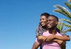 Happy young couple enjoying summer together Stock Image