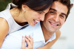 Happy young couple enjoying themselves Royalty Free Stock Photography