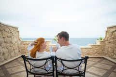Happy young couple enjoying vacation Royalty Free Stock Images