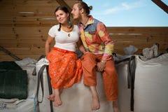 Happy young couple farming royalty free stock photos