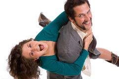 Happy Young Couple - goofing off Stock Images