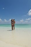 Happy young couple have fun on beach Royalty Free Stock Photo