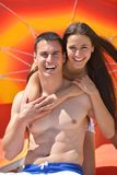Happy young couple have fun on beach Stock Photo