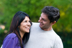 Happy young couple have fun together Stock Photography