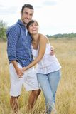 Happy young couple have romantic time outdoor Royalty Free Stock Photo