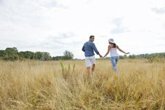 Happy young couple have romantic time outdoor Royalty Free Stock Images