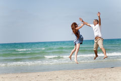 Happy young couple having fun Royalty Free Stock Photo