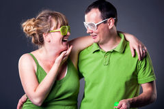 Happy young couple having fun Stock Photo