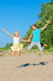 Happy young couple having fun. Stock Photography