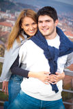 Happy Young couple having fun outside Stock Photo