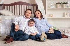 Happy young couple at home Royalty Free Stock Image